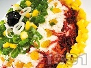 Рецепта Солена млечнокисела торта с извара, червено цвекло, моркови и стафиди